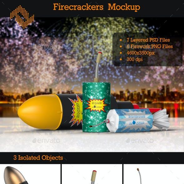 Firecrackers / Fireworks Mockup