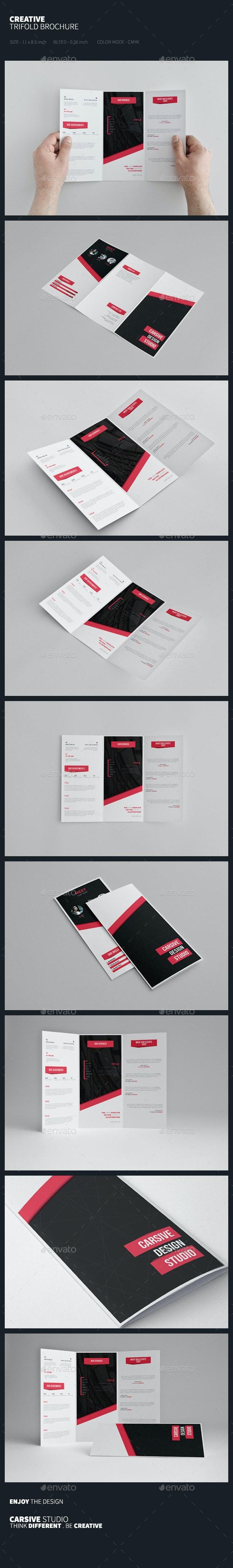 Creative Trifold Brochure Template - Corporate Brochures