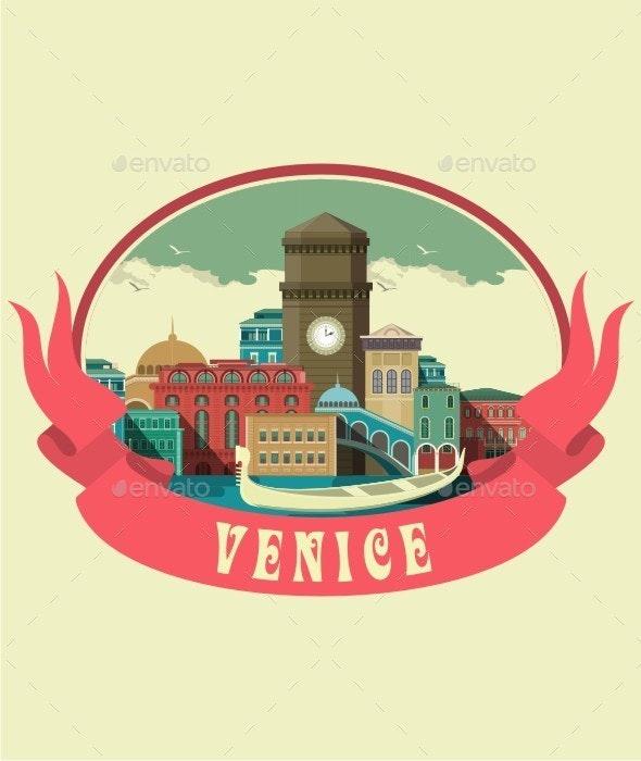 Venice Label - Travel Conceptual