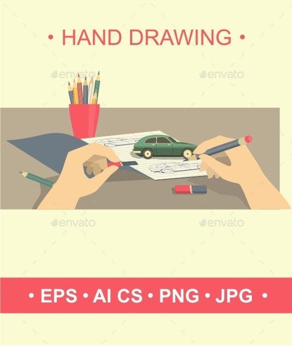 Hand Drawing - Conceptual Vectors