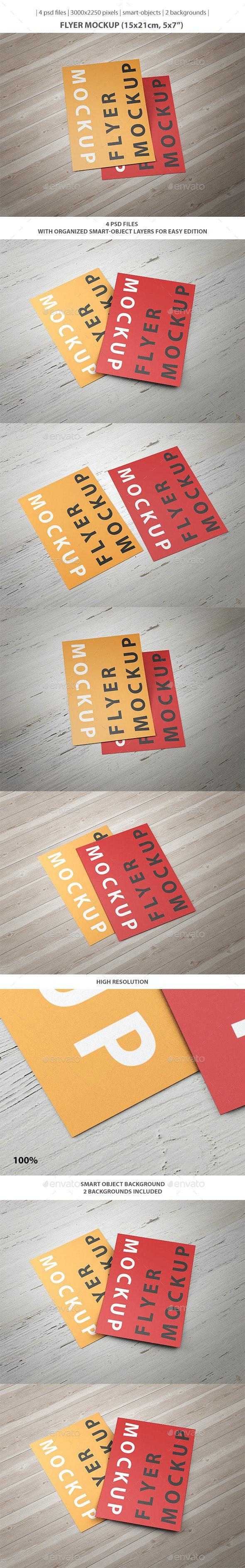 5x7'' Flyer Mockup - Flyers Print