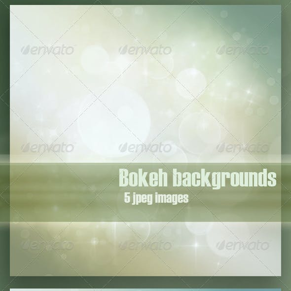 Festive bokeh backgrounds