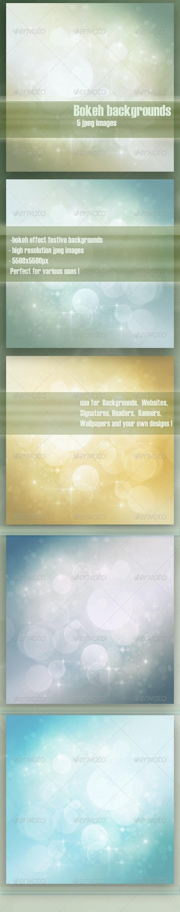 Festive bokeh backgrounds - Backgrounds Graphics