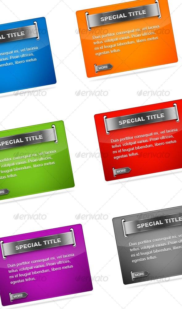 Colorful Web Box - Web Elements