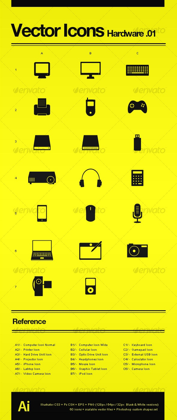 Vector Icons Hardware .01 - Technology Icons