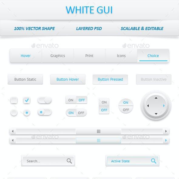White User Interface