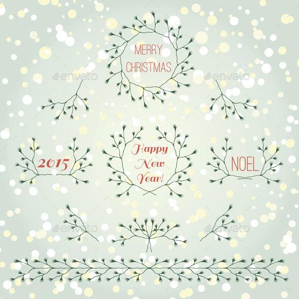 Christmas Branches Set - Christmas Seasons/Holidays