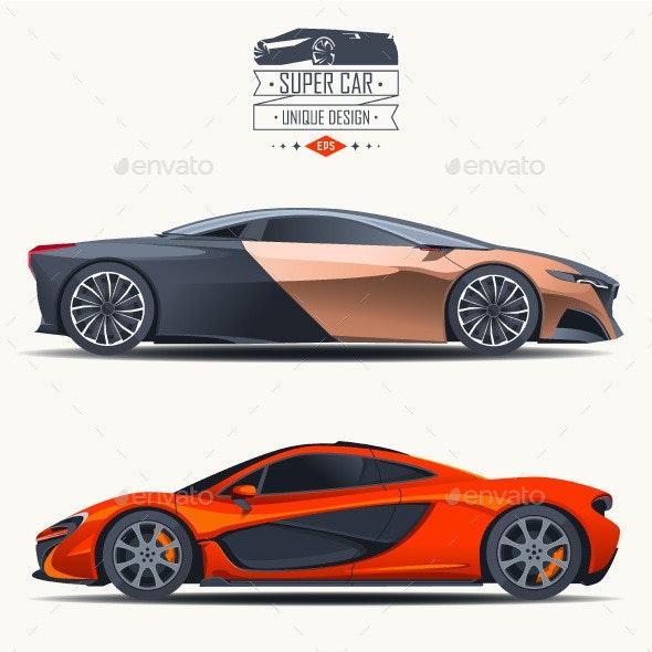 Super Car Design Concept - Objects Vectors