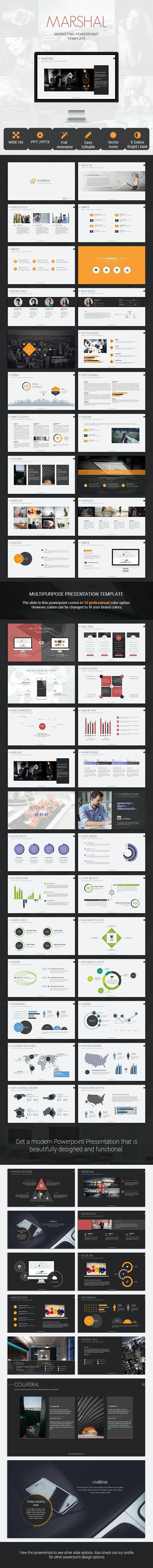 Marshal Marketing Presentation Template - PowerPoint Templates Presentation Templates