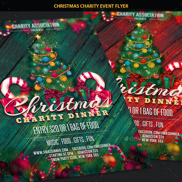 Christmas Charity Event Party Flyer