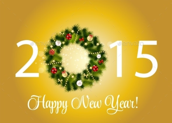 Abstract Beauty 2015 New Year Background - Christmas Seasons/Holidays