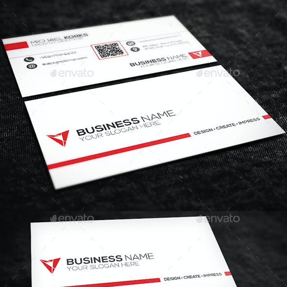 White Creative Business Card No.07