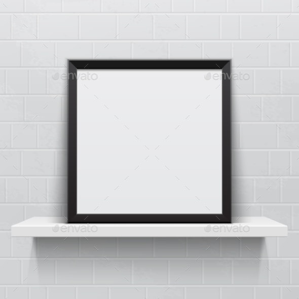Picture Frame on Shelf - Backgrounds Decorative