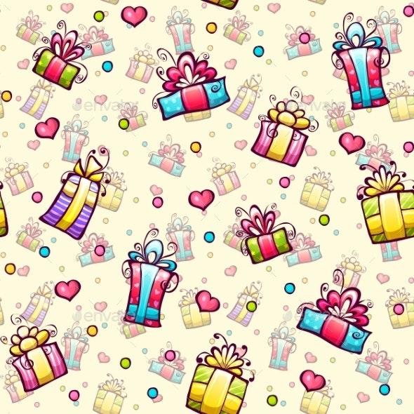 Gift Boxes Pattern - Patterns Decorative