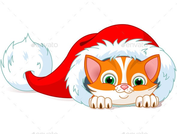 Christmas Cat - Animals Characters