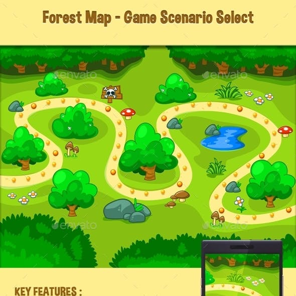 Forest Map - Game Scenario Select