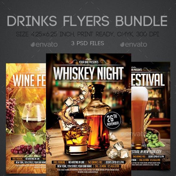 Drinks Flyers Bundle