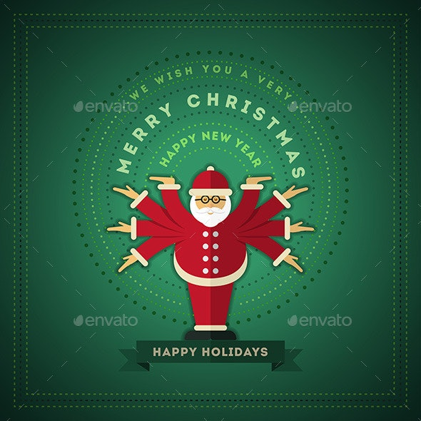 Santa Claus Greeting - Christmas Seasons/Holidays