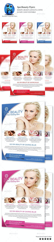 Spa Beauty-Print Templates flyer - Flyers Print Templates