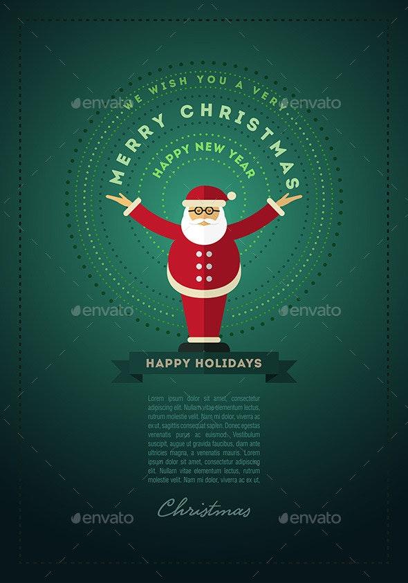 Santa Claus Greeting Design For Christmas - Christmas Seasons/Holidays