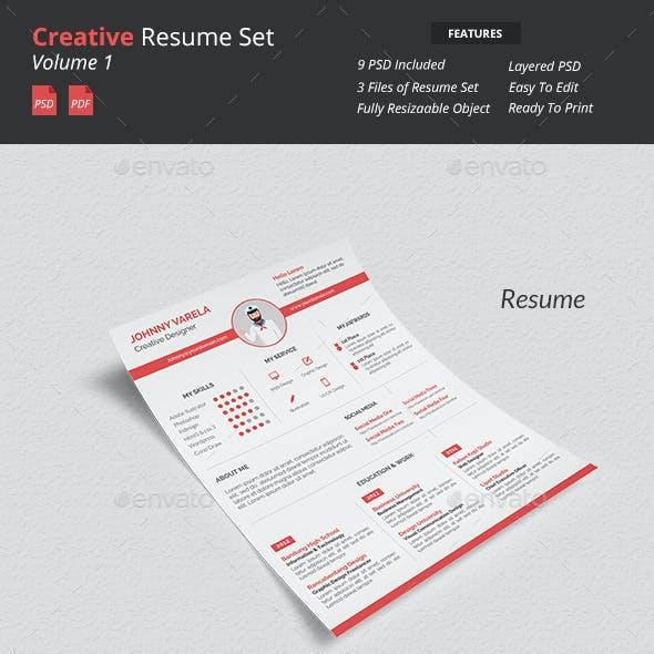 Creative Resume Set v1