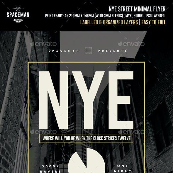 NYE Street Minimal Flyer