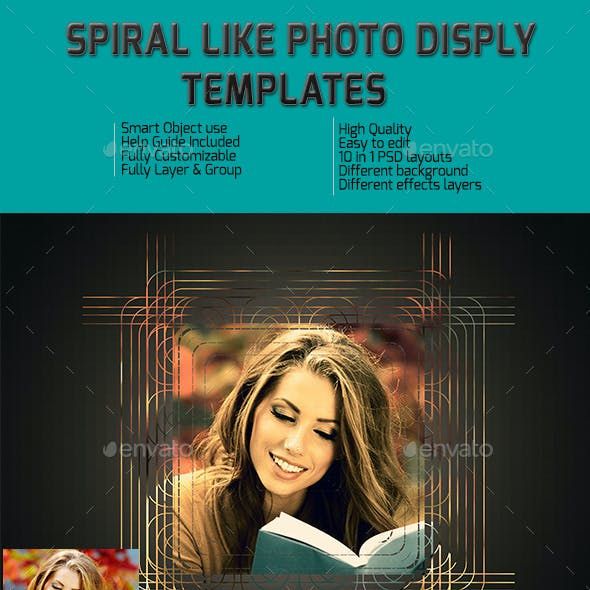 Spiral Like Frame Templates