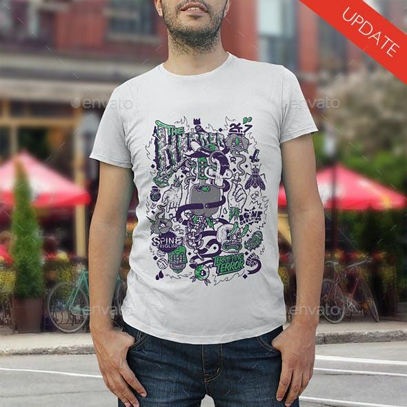 Male T-Shirt Mock Up