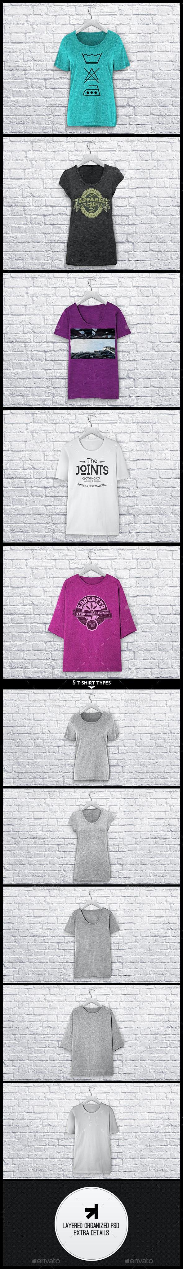 Ladies T-Shirt Mockup - T-shirts Apparel