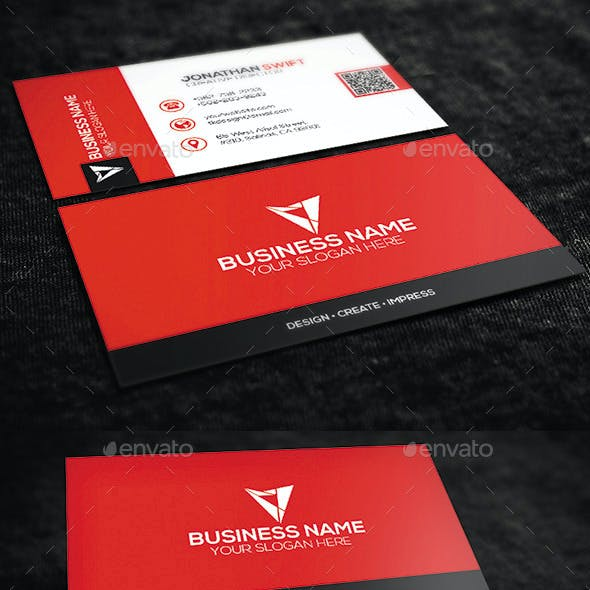Red Corporate Business Card No.09