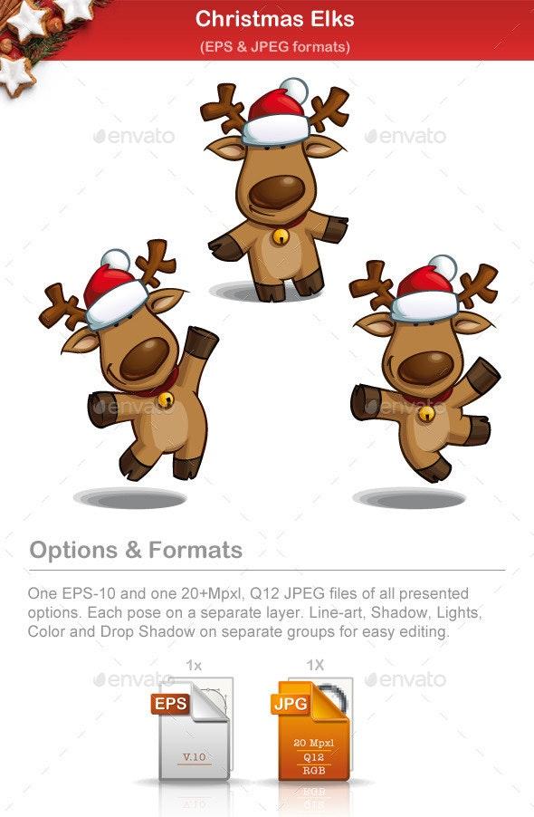 Christmas Elks - Christmas Seasons/Holidays