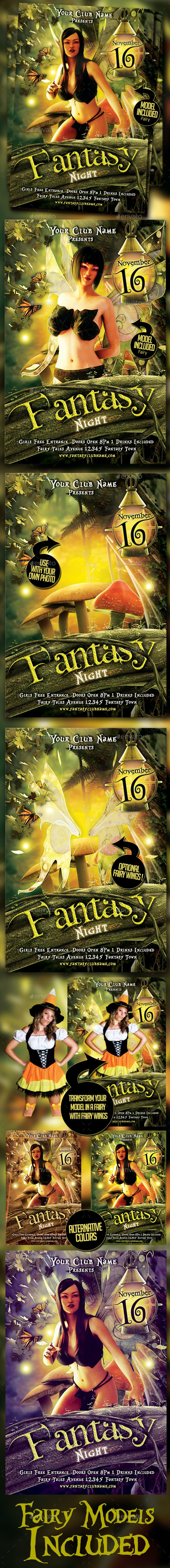Fantasy Night Flyer Template - Clubs & Parties Events