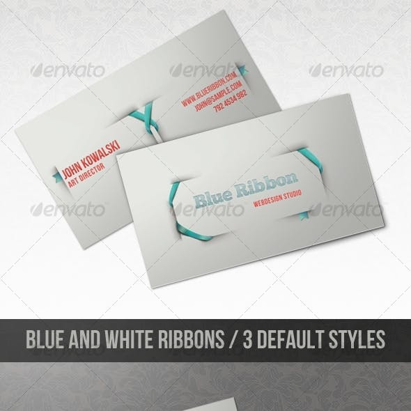 Blue Ribbon - Clean and Modern Business Card