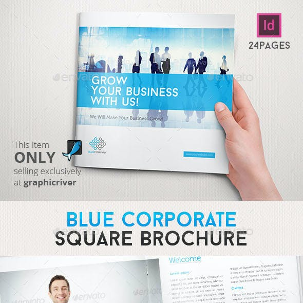 Blue Corporate Square Brochure