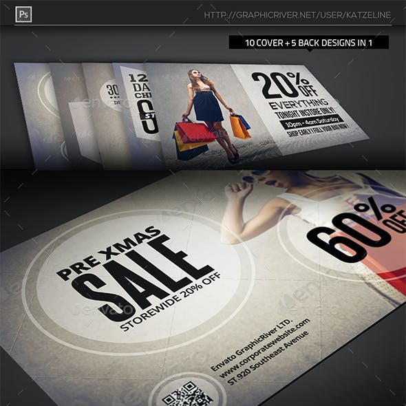 Shopping Sale Postcard Template