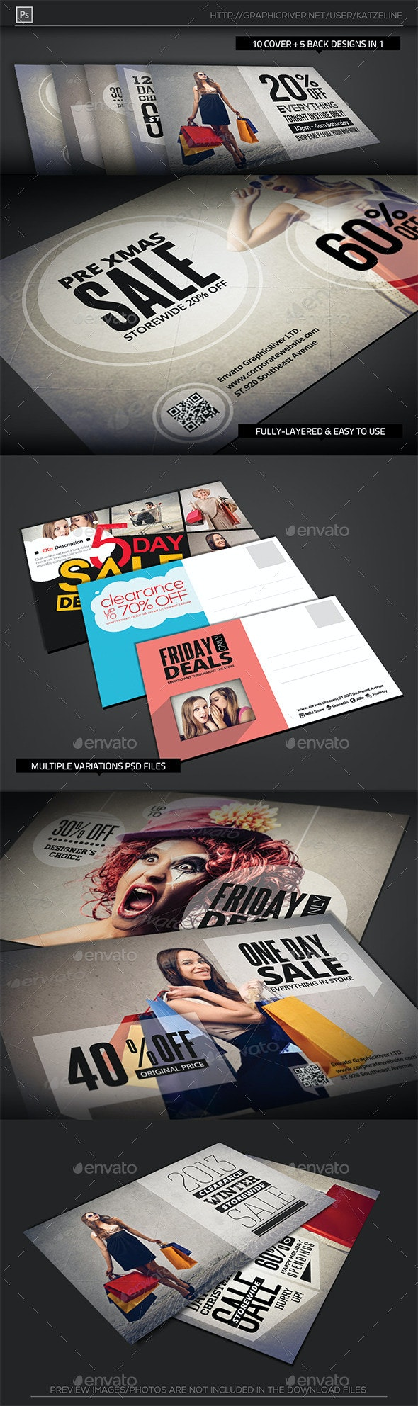 Shopping Sale Postcard Template - Corporate Flyers