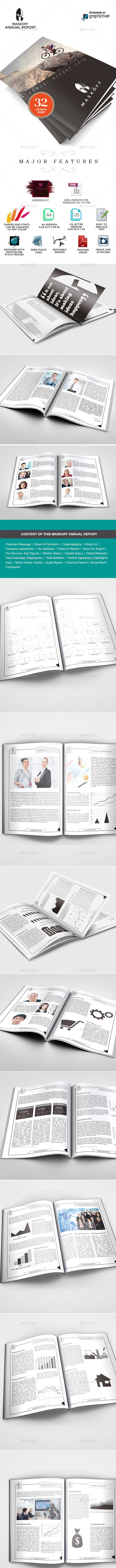 Maskoff Multipurpose Business Annual Report  - Miscellaneous Print Templates