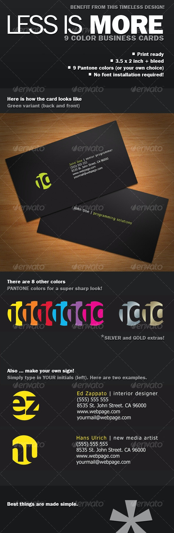 Less Is More Business Card - Corporate Business Cards