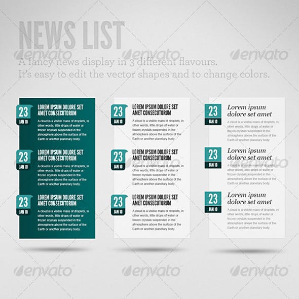 Clean News List