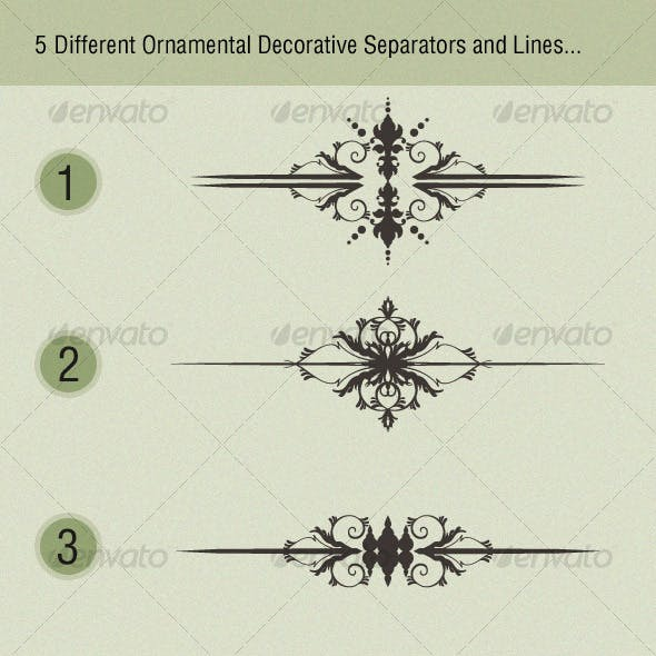 Ornamental Decorative Separators and Lines