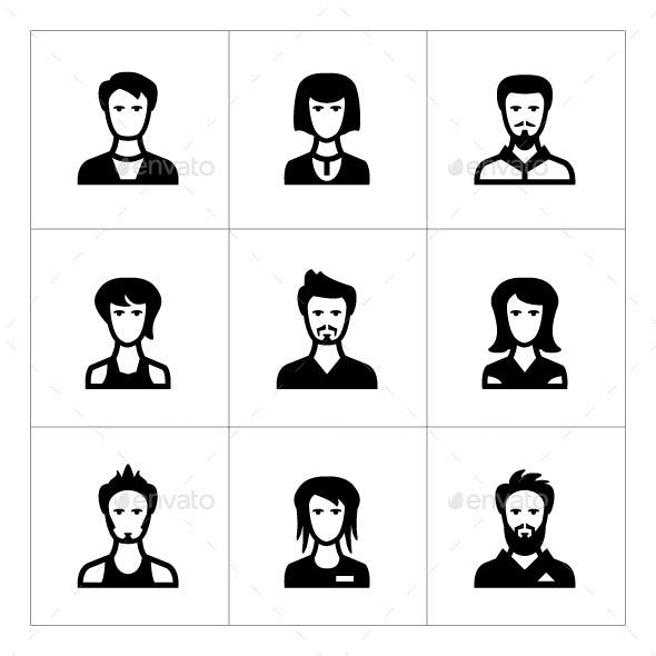 Set Icons of People