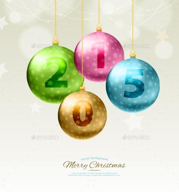 Christmas Balls Template Background - Christmas Seasons/Holidays