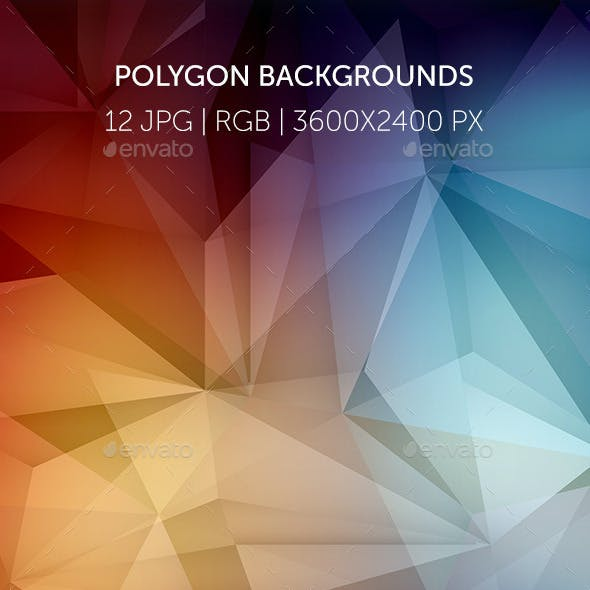 Polygonal Abstract Colourful Backgrounds