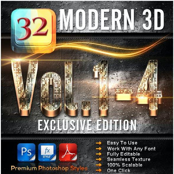 32 Modern 3D_Bundle (Vol.1-4)