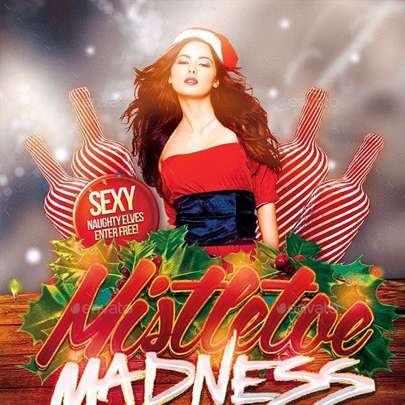 Mistletoe Madness Flyer Template