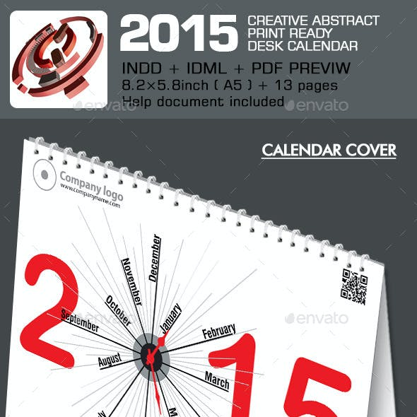 Creative Desk Calendar 2015