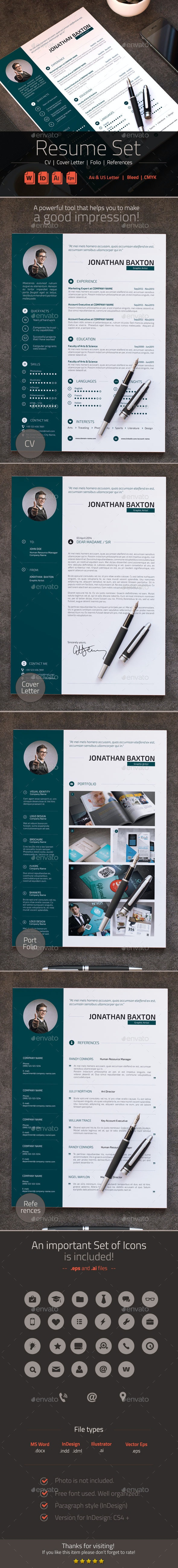 Simple Resume CV Set - Resumes Stationery