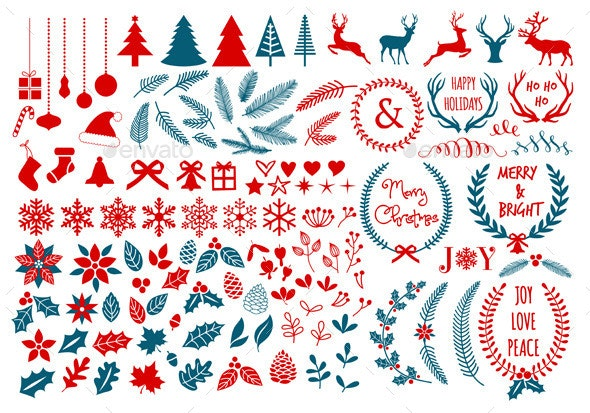 Christmas Design Elements Set - Christmas Seasons/Holidays