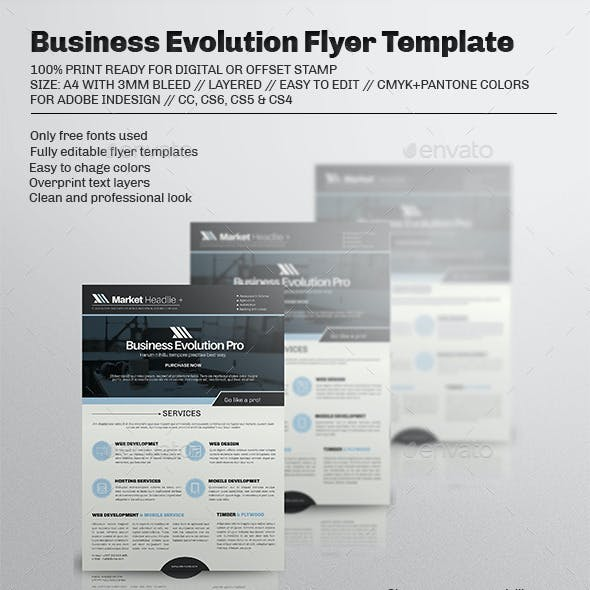 Business Evolution Flyer Template