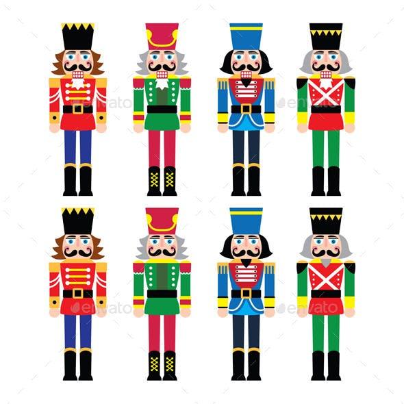 Christmas Nutcracker Soldier Figurines